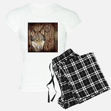 vintage Americana wild wolf Pajamas