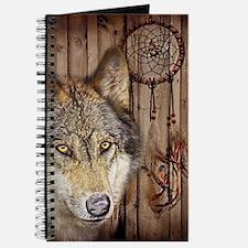 vintage Americana wild wolf Journal