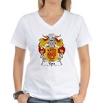 Vara Family Crest Women's V-Neck T-Shirt