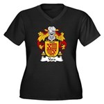 Vara Family Crest Women's Plus Size V-Neck Dark T-