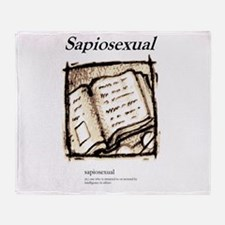 Sapiosexual Throw Blanket