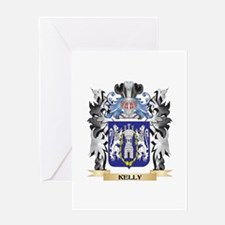 Kelly Coat of Arms - Family Crest Greeting Cards