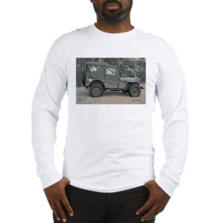 42 Ford GPW jeep in woods Long Sleeve T-Shirt