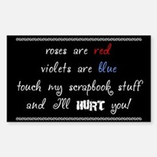 Roses are red... Rectangle Decal