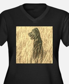 rustic country farm dog Plus Size T-Shirt