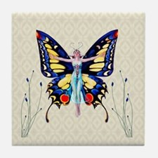 Butterfly Flapper King Tile Coaster