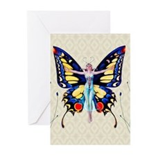Butterfly Flapper King Greeting Cards