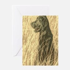 rustic country Labrador dog Greeting Cards