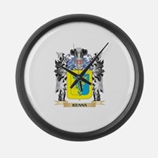 Kenna Coat of Arms - Family Crest Large Wall Clock