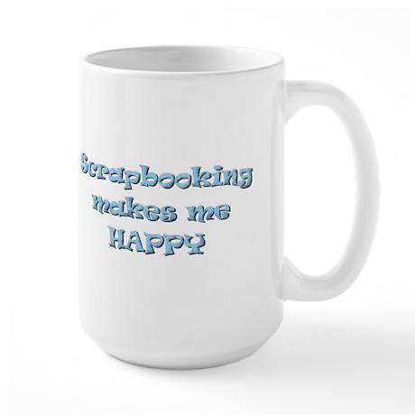 Happy Scrapbooking Large Mug