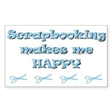 Happy Scrapbooking Rectangle Decal