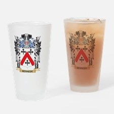 Kennedy- Coat of Arms - Family Cres Drinking Glass