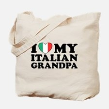 I Love My italian Grandpa Tote Bag