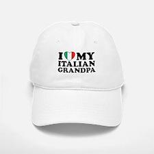 I Love My italian Grandpa Baseball Baseball Cap