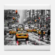 I LOVE NYC - New York Taxi Tile Coaster