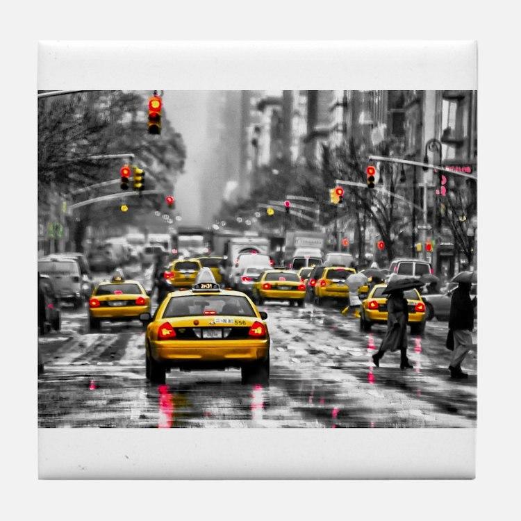I LOVE NYC - New York Taxi Tile Coaster