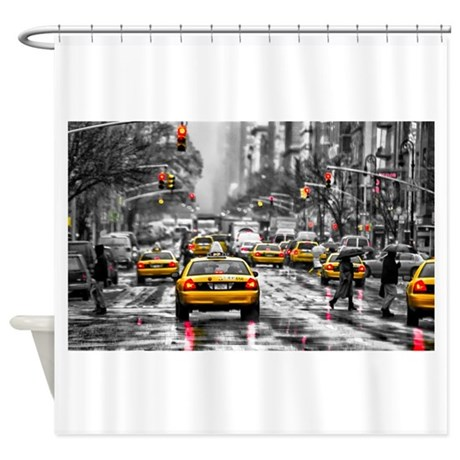 I LOVE NYC   New York Taxi Shower Curtain