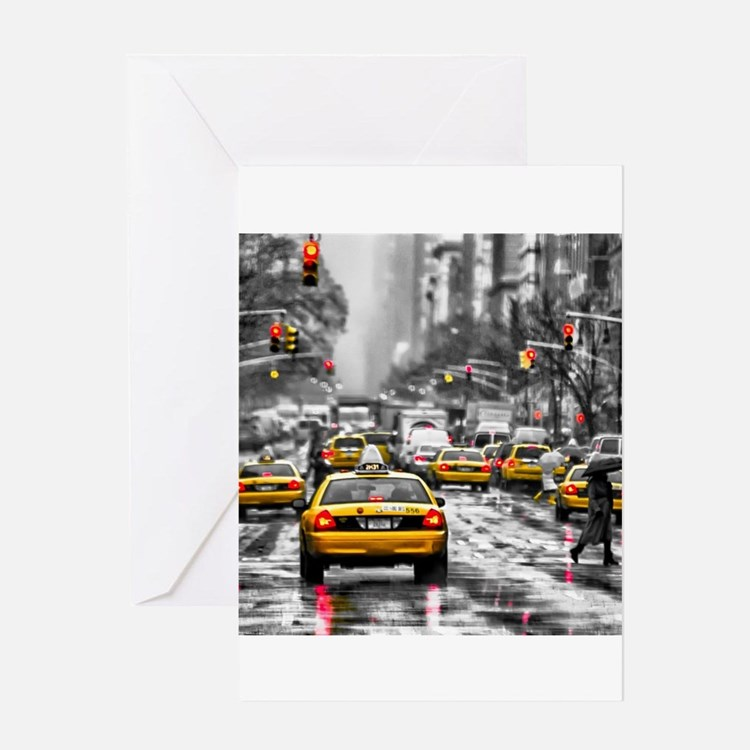 I LOVE NYC - New York Taxi Greeting Cards