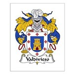 Valdivieso Family Crest Small Poster