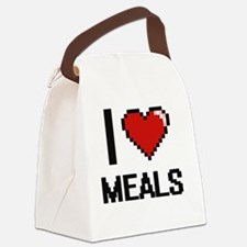 I Love Meals Canvas Lunch Bag