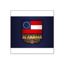 "Unique Alabama Square Sticker 3"" x 3"""