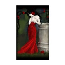 Red Roses In The Cemetery Decal