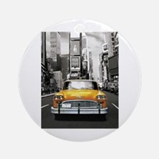I LOVE NYC - New York Taxi Ornament (Round)