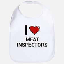 I Love Meat Inspectors Bib
