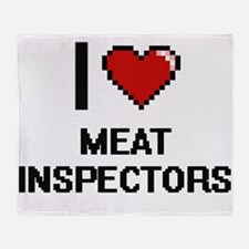 I Love Meat Inspectors Throw Blanket