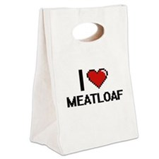 I Love Meatloaf Canvas Lunch Tote