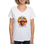 Valbueno Family Crest Women's V-Neck T-Shirt