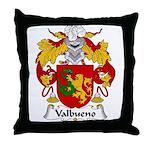 Valbueno Family Crest Throw Pillow