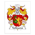 Valbueno Family Crest Small Poster