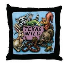 Cute Mess with texas Throw Pillow