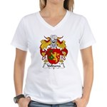 Valbuena Family Crest  Women's V-Neck T-Shirt