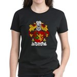Valbuena Family Crest  Women's Dark T-Shirt