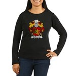 Valbuena Family Crest  Women's Long Sleeve Dark T-