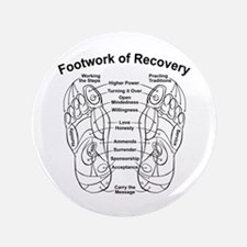 Funny 12 step recovery Button