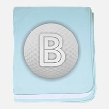 B Golf Ball - Monogram Golf Ball - Mo baby blanket