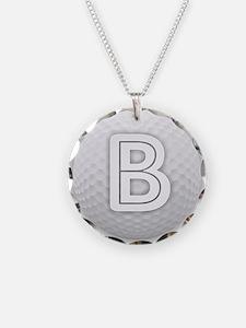 B Golf Ball - Monogram Golf Necklace