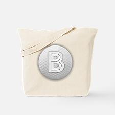 B Golf Ball - Monogram Golf Ball - Monogr Tote Bag