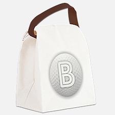 B Golf Ball - Monogram Golf Ball Canvas Lunch Bag