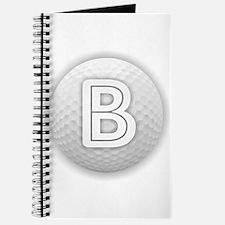 B Golf Ball - Monogram Golf Ball - Monogra Journal