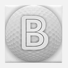 B Golf Ball - Monogram Golf Ball - Mo Tile Coaster