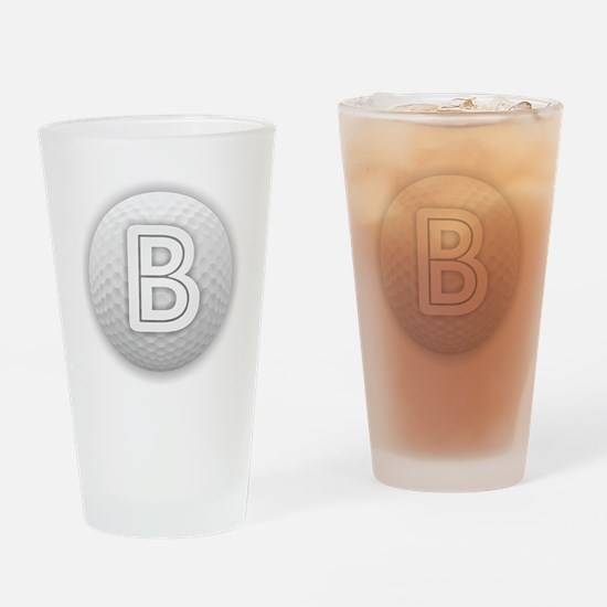 B Golf Ball - Monogram Golf Ball - Drinking Glass