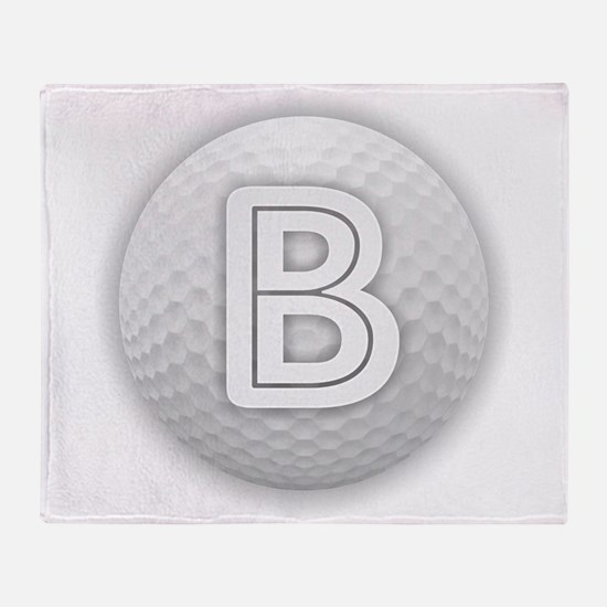 B Golf Ball - Monogram Golf Ball - M Throw Blanket