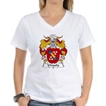 Urruela Family Crest Women's V-Neck T-Shirt