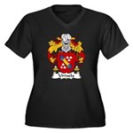 Urruela Family Crest Women's Plus Size V-Neck Dark