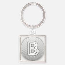 B Golf Ball - Monogram Golf Ball - Monog Keychains