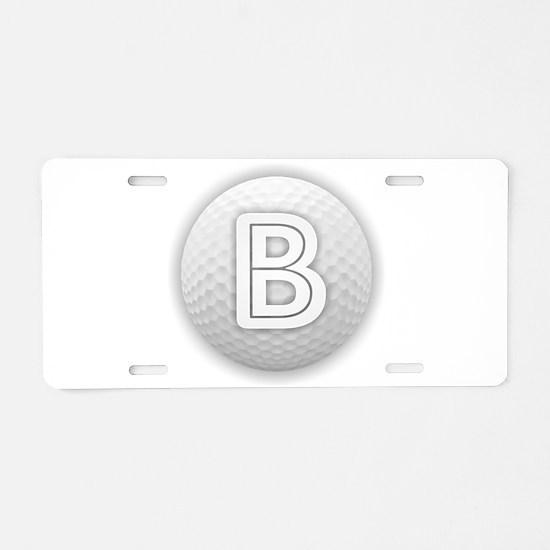 B Golf Ball - Monogram Golf Aluminum License Plate